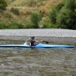 Dave Jaggs paddling his Ruahine F1