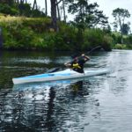 Dave Jaggs paddling a Ruahine Firebolt
