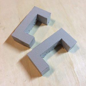 Foam locking blocks